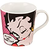 "Vandor 10461 Betty Boop ""All This and Brains Too"" 12 oz Ceramic Mug, Multicolor"