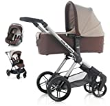 Jane Muum + Micro Carrycot + Koos Car-Seat Formula Travel System - Basalt Brown