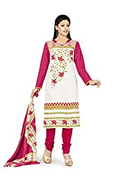 RK Fashion Womens Cotton Un-Stitched Salwar Suit Dupatta Material ( VARIETY-GANPATI-SUPRIYA-207-Multi-Coloured-Free Size)