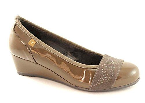 CINZIA SOFT 1846 taupe scarpe donna ballerine decolletè zeppetta 39