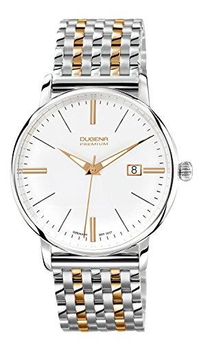 Dugena  Dugena Premium - Reloj de cuarzo para hombre, con correa de acero inoxidable, color multicolor