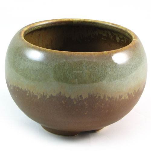 Glazed Ceramic Incense Bowl - Desert Sage