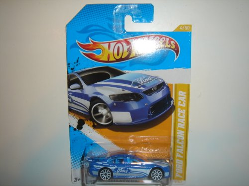 2012 Hot Wheels New Models Ford Falcon Race Car Blue #4/247 - 1