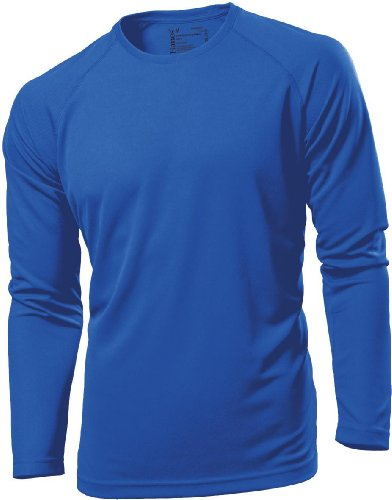 Hanes Tagless Crew Neck Long Sleeve Sports - White - L