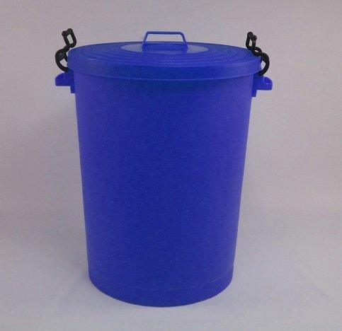 110 Litre blue Bin/refuse bin with lockable lid (made in the uk)