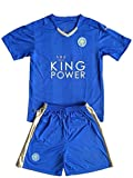 2016 2017 UEFA England Premier League Leicester City FC Home Youth Kid Children Football Soccer Jersey In Blue