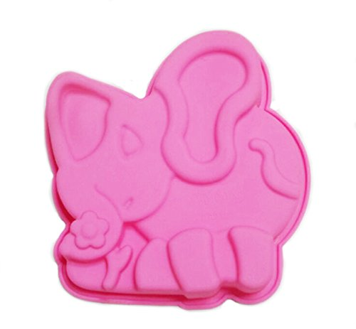 Yunko Elephant Silicone Baking Pan Mousse Cake Mold Bread Mold Soap Mold Candle Mold
