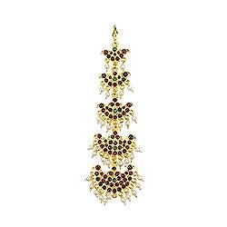 Mangtika with hanging pendants for Bharatnatyam/Kuchipudi