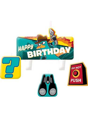 Phineas and Ferb 'Agent P' Cake Candle Set (4ct)