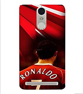 PRINTVISA Football Ronaldo Case Cover for Lenovo K5 Note