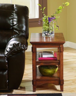 Cheap Signature Design by Ashley T719-7 Cross Island Chairside End Table With Shelves (T719-7)