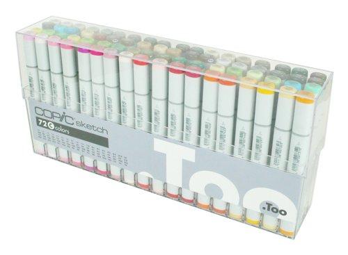 Copic Sketch Marker 72 Color Set C (Color: Set C - 72 Color Set (S72c))