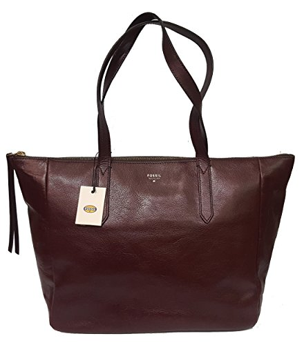 FOSSIL Borsa donna Tote due manici Shopping pelle sydney zb5764597 vinaccio raisin