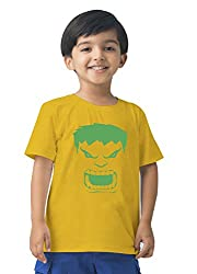 Mintees 100% Combed Cotton Boy's Graphic Print Golden Yellow Colour Tshirt MBRNT02-002_8-9Yrs