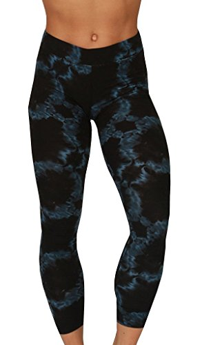 Velocity - Soft, Comfy, High Quality Printed Leggings - Full Length Yoga Pants - Ink Loop Navy - Medium