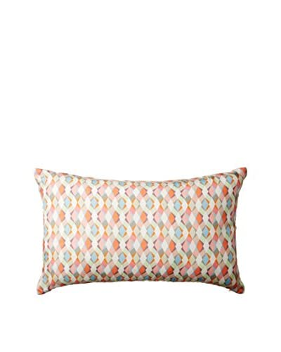 Nitin Goyal London Large Braid Silk Lumbar Pillow, Multi