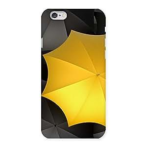 Impressive Black Yellow Umbrella Back Case Cover for iPhone 6 6S