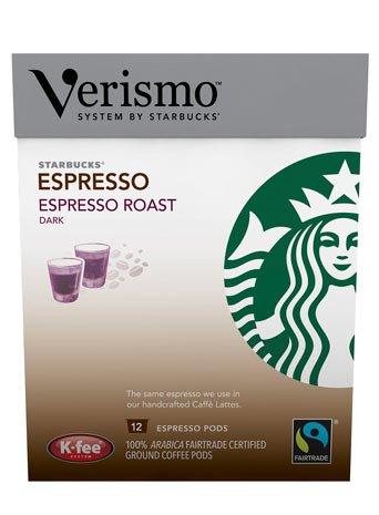 Shop for STARBUCKS VERISMO by STARBUCKS Espresso Roast Pod Pack, 12 Count from STARBUCKS