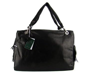 NARDELLI Italian Made Black Leather Designer Tote Bag Laptop Case