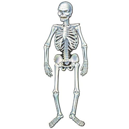 Art-Print Jointed Skeleton Party Accessory (1 count) (1/Pkg)