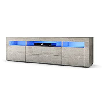 TV Board Lowboard Santa Fe 166cm in Beton-Optik