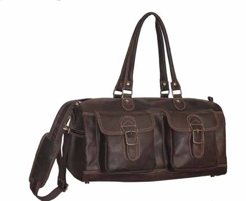 David King & Co. Duffel with 2 Front Pockets Distressed, Cafe, One Size
