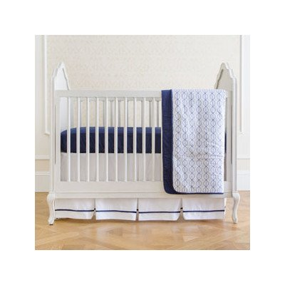 Summer Infant 4-Piece Classic Bedding Set with Adjustable Crib Skirt, Nautical Navy