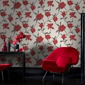 Home Of Colour - Ava - Wallpaper - Flame Red by New A-Brend
