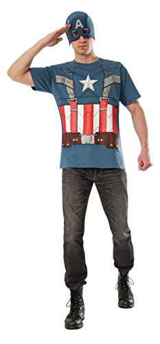 Rubie's Costume Men's Marvel Universe Captain America The Winter Soldier T-Shirt