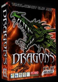 Dragon EPS Vector Sign Clipart