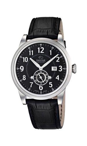 Jaguar Watches J662/4 - Reloj analógico de cuarzo para hombre, correa de cuero color negro