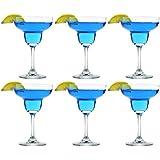 Rink Drink Margarita Cocktail Crystal Glasses - 270ml (9oz) - Gift Box of 6