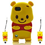 Winnie the Pooh 3D ipod touch 5 Soft Silicone Case Cover Faceplate Protector For itouch 5g 5th Generation