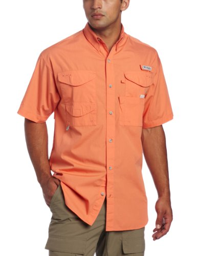 Columbia mens bonehead short sleeve fishing shirt overview for Mens fishing shirts