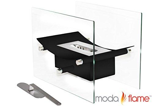 Moda Flame Cavo Table Top Ventless Bio Ethanol Fireplace in Black