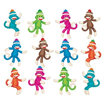 Trend Enterprises Inc. Sock Monkeys Mini Accents Variety