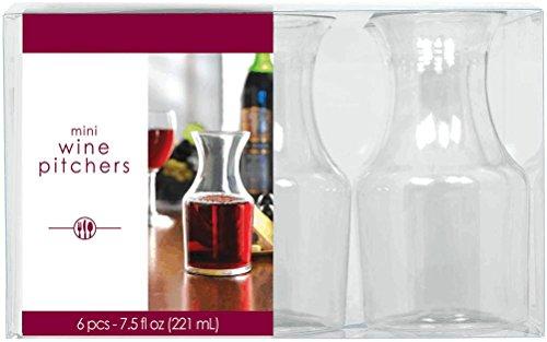 Amscan 221 ml d'articles de 6 Pichets Brocs x Mini-de-vin
