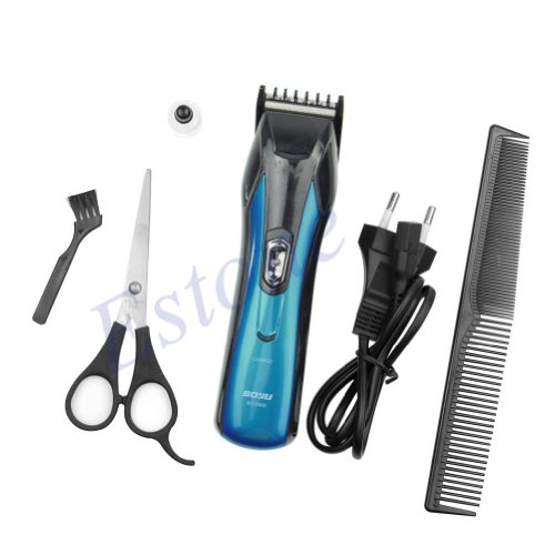 Estone Professional Men'S Handy Electric Beard Hair Shaver Razor Trimmer Clipper Set Eu Plug