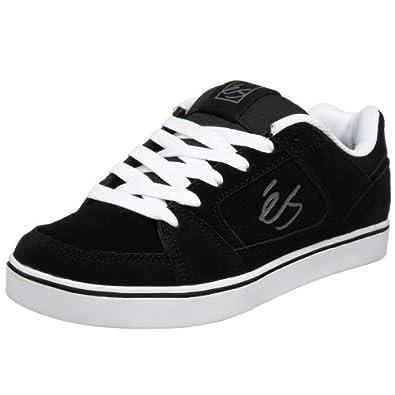 eS Men's Slant Technical Skate Sneaker,Black/White,7 M US