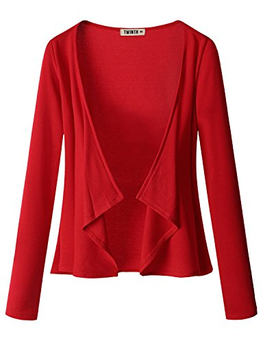 thanth-womens-draping-long-sleeve-jersey-open-cardigan-red-2xl