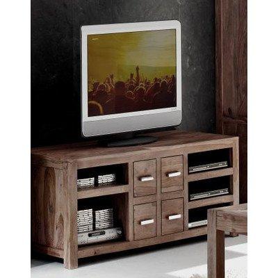 "Sit-Möbel 1515-30 TV-banco ""icfa stone oscuro"", 148 x 56 x 59 cm, maciza Oscuro Sheshame"