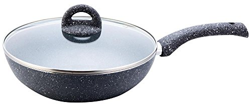 Wonderchef Granite Wok with Lid Set, 24cm, 2-Pieces