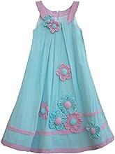 Isobella amp Chloe Little Girls Turquoise Purple Flower Swing Dress