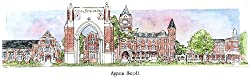 Agnes Scott - Collegiate Colors - 5 x 13 Inch Framed Prints