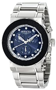 Invicta Men's 1465 Reserve Collection Chronograph Blue Dial Stainless Steel Watch