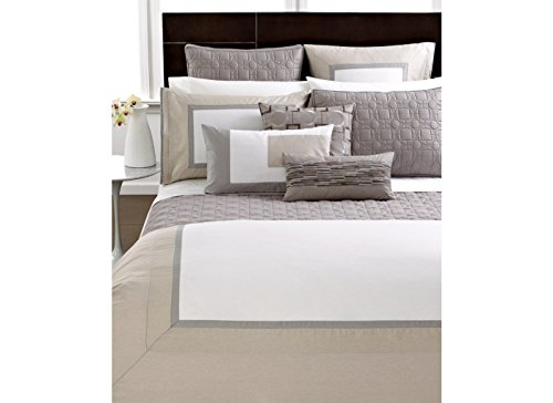 Hotel Collection Modern Block 400T Full/Queen Comforter front-166035