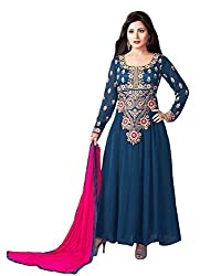 The Magical Thread Women's Georgette Unstitched Dress Material (MR-DN091_Multicolor_Free Size)