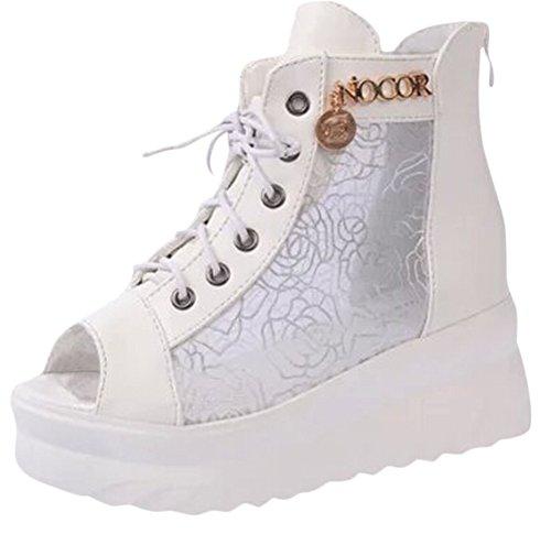 Ace Women's Peep Toe Wedge Platform Sandal Fashion Sneakers