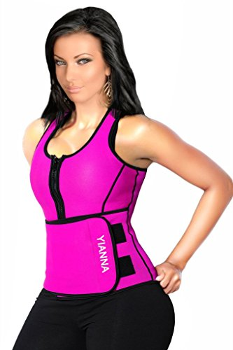 YIANNA-Neoprene-Sauna-Suit-Sauna-Tank-Top-Vest-with-Adjustable-Shaper-Trainer-Belt