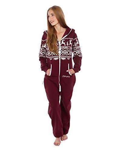Zipups Mono-Pijama Reindeer Gris Claro